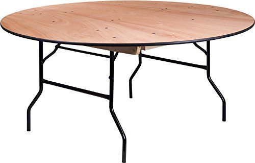Ordinaire 5 PACK 66u0027u0027 Round Commercial Quality Heavy Duty Wood Folding Banquet Table  With Clear Coated Finished Top | Kitchen Designs | Pinterest | Banquet  Tables, ...