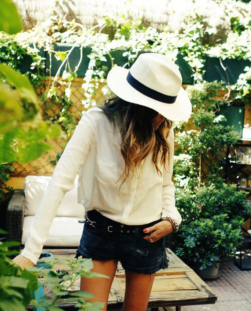 See How Our Favorite Tastemakers Polish Their Look With A Wide-Brim Hat via @Alexandra M What Wear