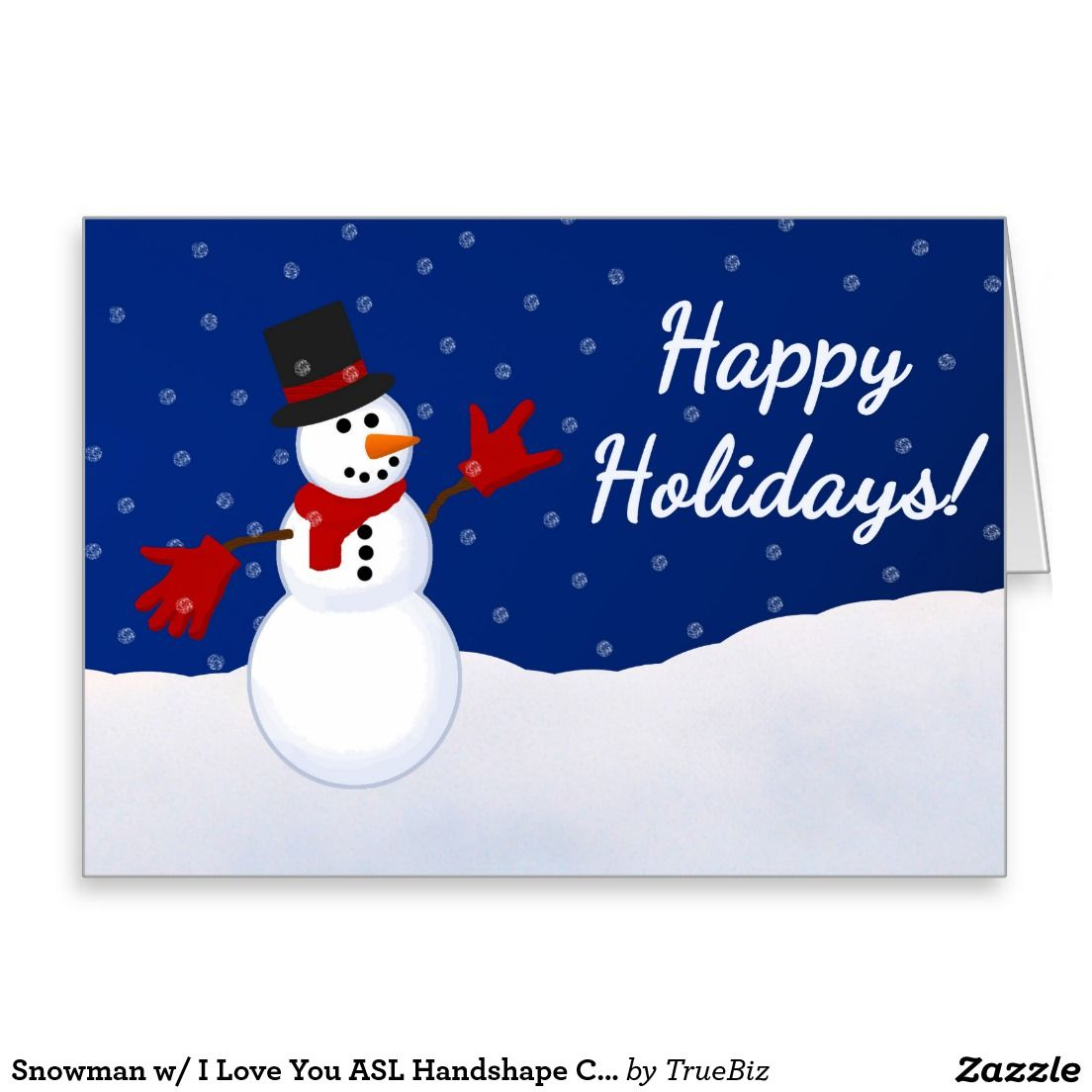 asl snowman w ily handshape christmas card american sign language - How To Sign A Christmas Card