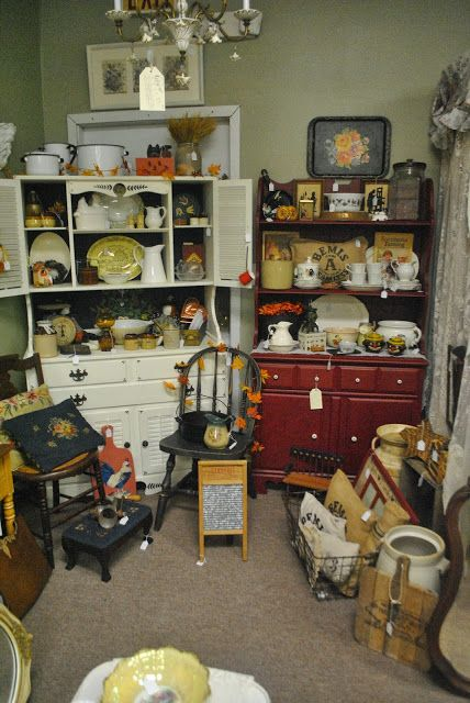 The Cottage Shoppe: AUTUMN BOOTH beautiful kitchen hutches