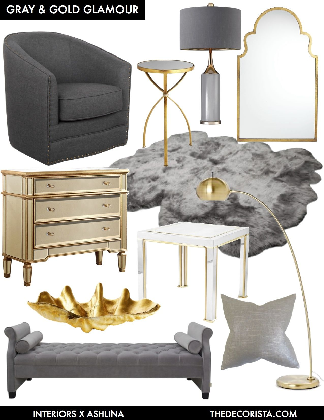 Gray And Gold Bedroom Ideas.Color Crushing Decorating With Gray And Gold For Glamour