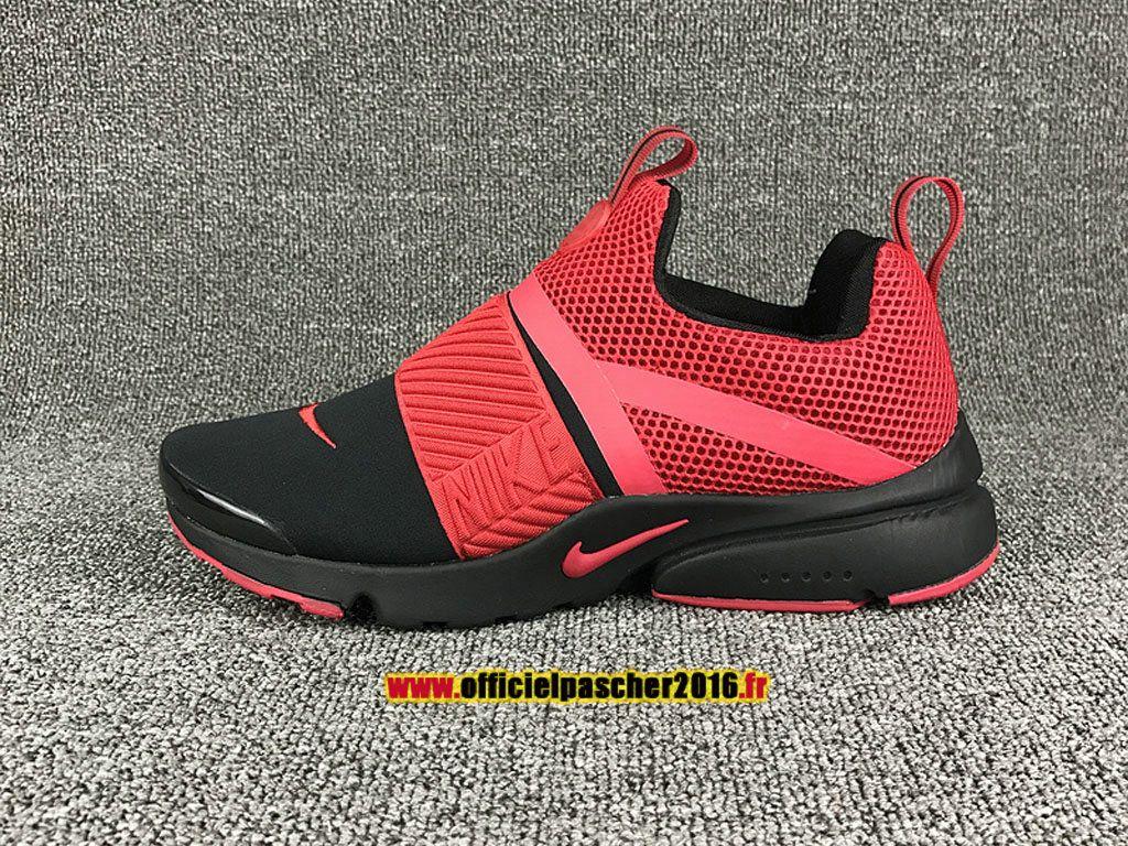 5e85d901ff8a 2017 Nike Air Presto Extrem Chaussures Nike Officiel Pas Cher Pour Femme  Noir   Rouge