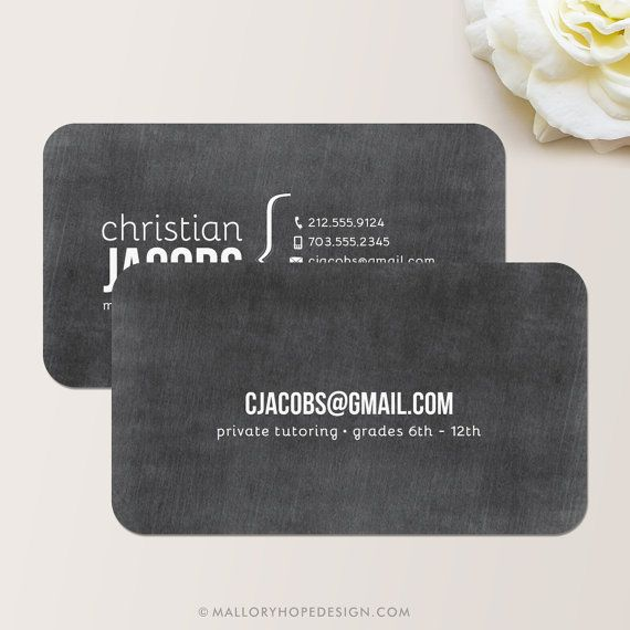 Chalkboard Business Card Calling Card Mommy Card Contact Card
