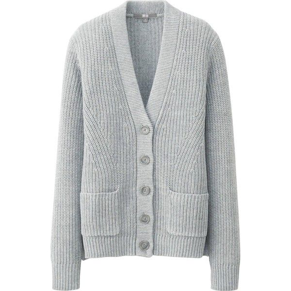 The soft and springy warmth of this chunky knit women's cardigan ...
