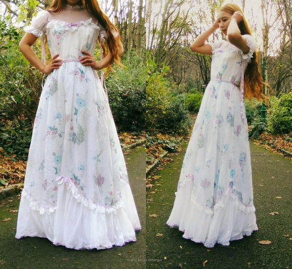 1970s Victorian Wedding Dress