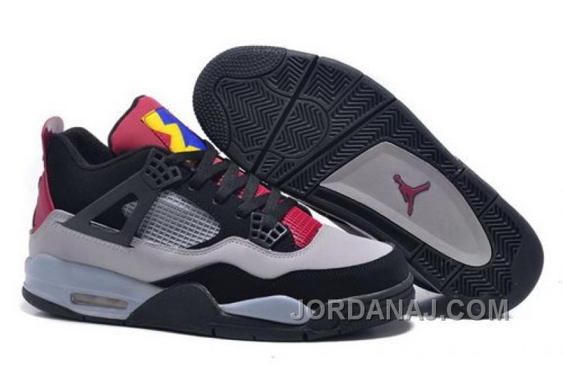 Closeout Nike Air Jordan Iv 4 Gs Retro 7lab4 Mens Shoes Gray Black ... 9ed4025d5