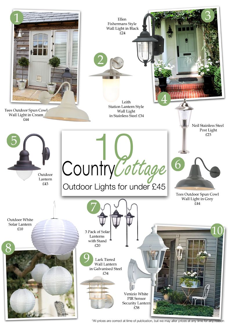 10 country cottage style outdoor lights for under 45 outdoor rh pinterest com  cottage style outdoor wall lighting