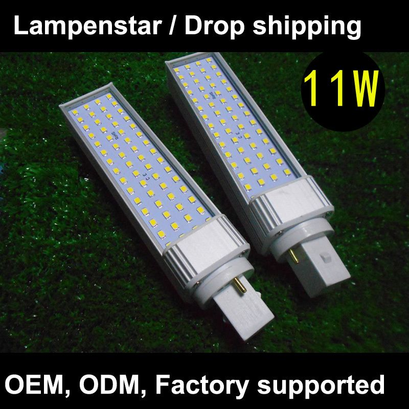 $36.14 (Buy here: http://appdeal.ru/5525 ) 4pcs/lot LAMPADA LAMPADINA LED bulb 2835 60 SMD G24 11W 3000K 4000K 6000K AC85-265V 110V 220V Warm White/ White/ Cool white for just $36.14
