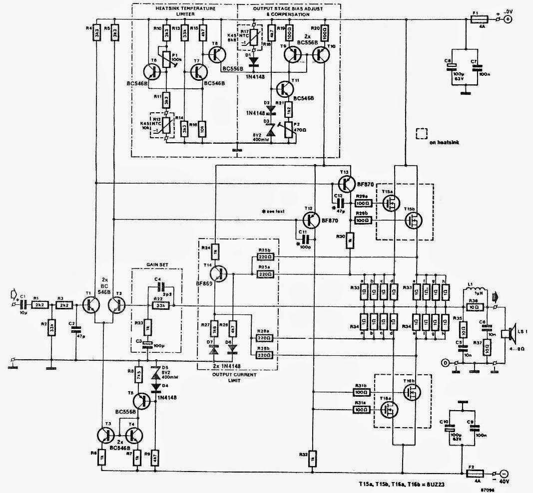 60w 120w 170w 300w Power Amplifier Circuit