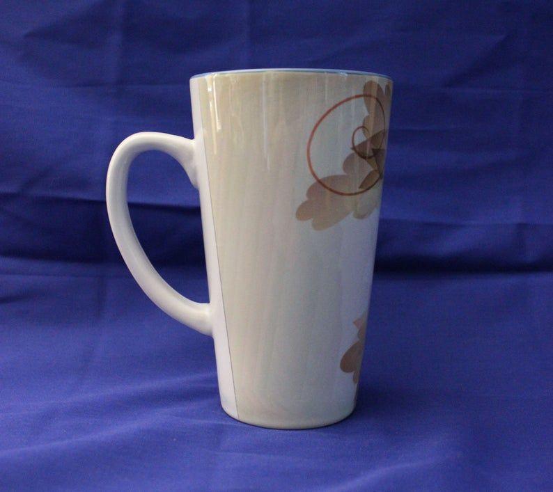 Hummingbird Mug Hummingbird Coffee Mug Bird Mug 17 Oz Latte Coffee Mug Blue And Gold Mugs Coffee Mugs Coffee Latte