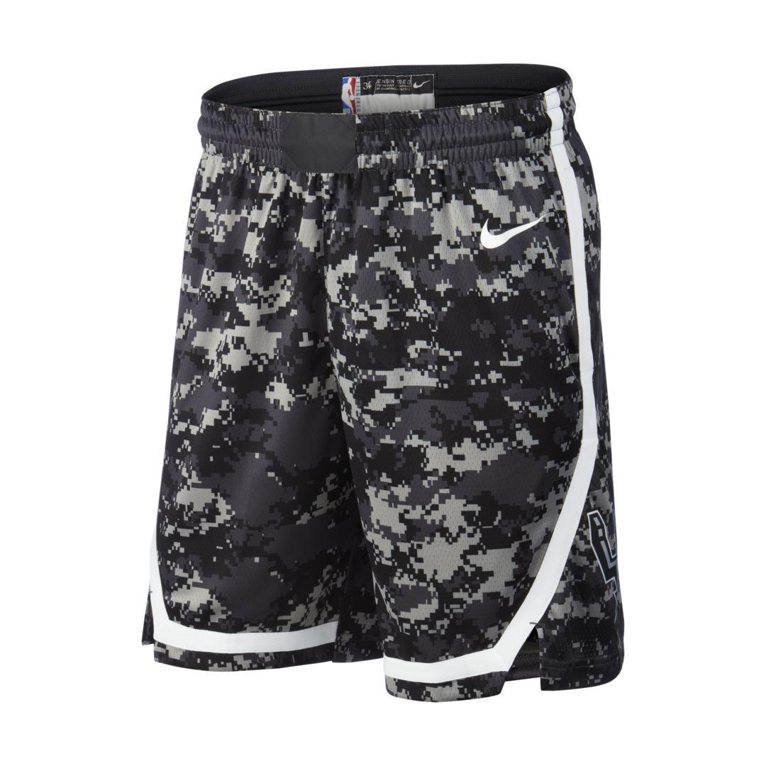 NBA San Antonio Spurs Herren Shorts Weiß Nike Swingman