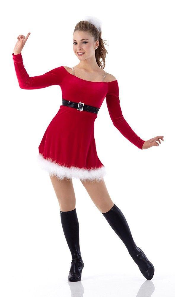 SANTA CUTIE Ballet Christmas Ice Skating Dress Dance Costume Child X-Small  2-3yr #Cicci - Santa Cutie Dance Costume Ballet Christmas Ice Skating Dress Child X