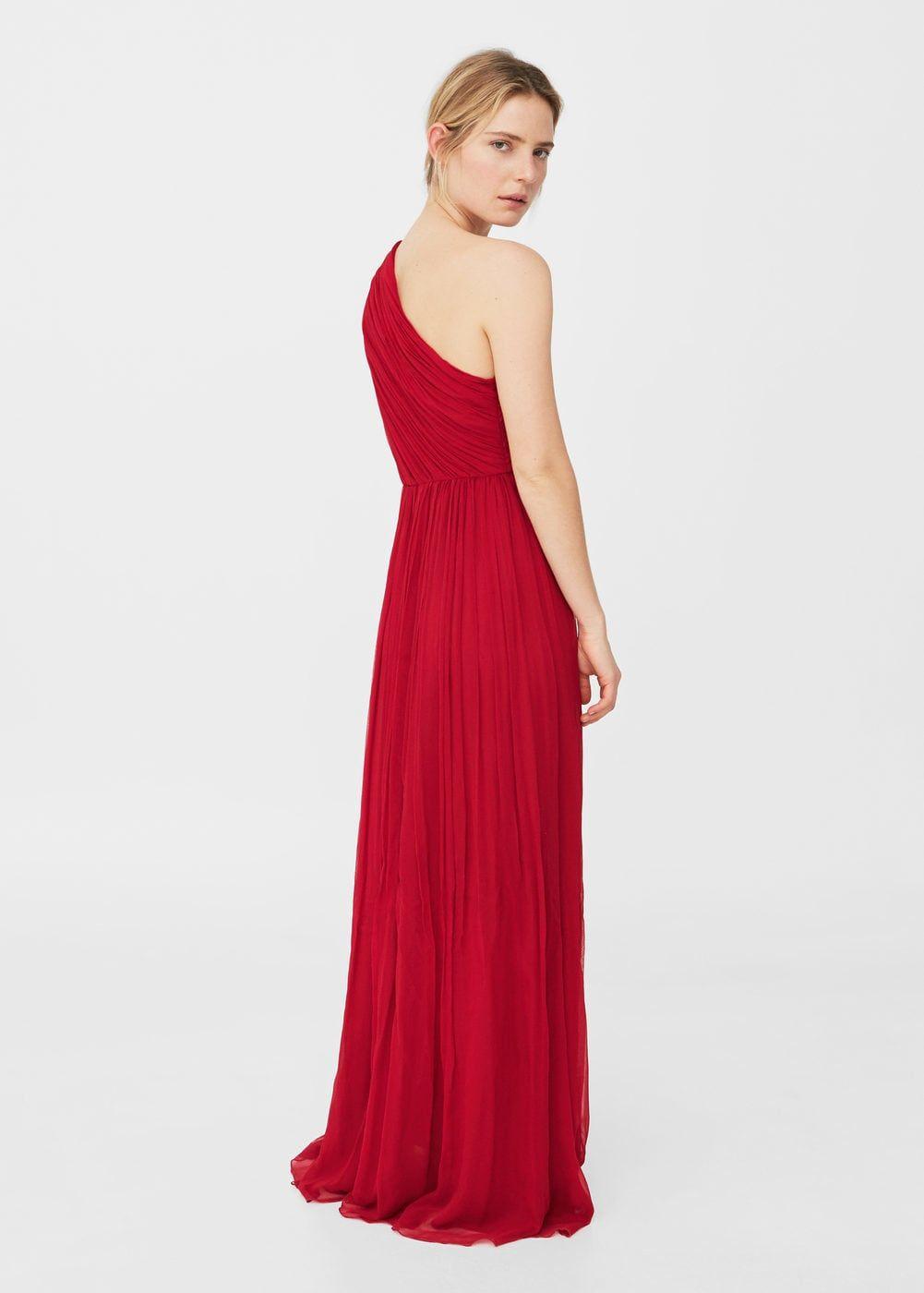 Asymetrické hedvábné šaty - Žena  ced6af5f047