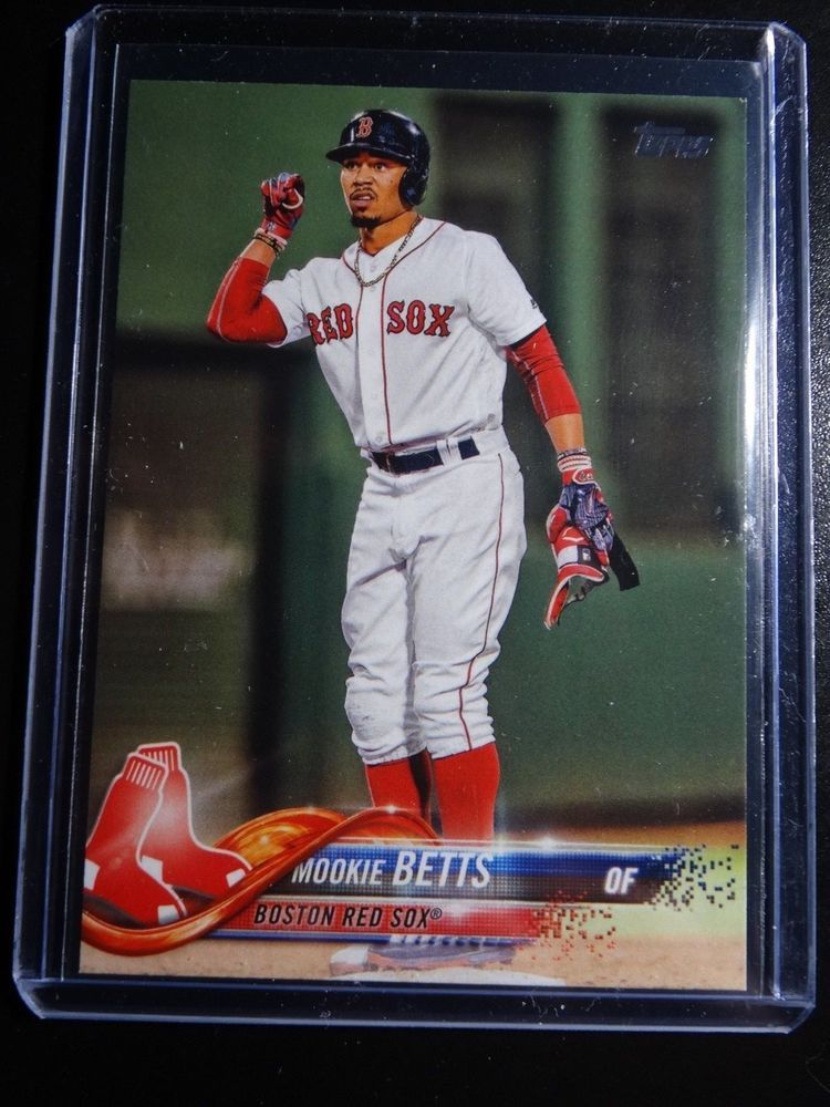 2018 Topps Series 1  140 Mookie Betts Red Sox SSP Photo Variation Baseball  Card  Topps  BostonRedSox bf2128634d9