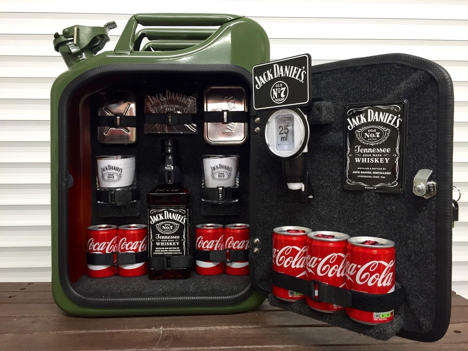 Jerry Can Mini Bar Jack Daniels Grey Goose Vodka Whiskey Camping Glamping Gift Jack Daniels Geschenke Diy Ideen Diy Bastelideen