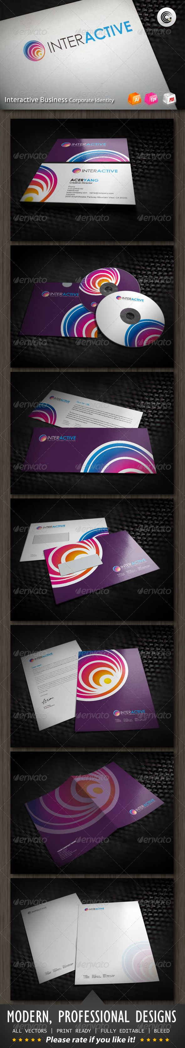 Interactive Media Business Corporate Identity Corporate