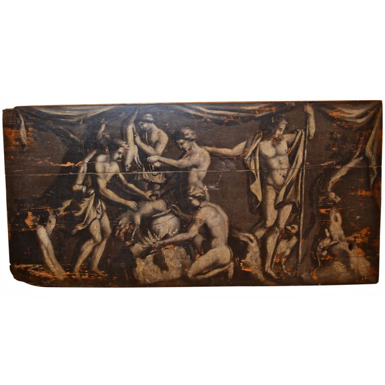 Early 18th Century Italian Grisaille Wall Panel | From a unique collection of antique and modern panelling at https://www.1stdibs.com/furniture/building-garden/panelling/