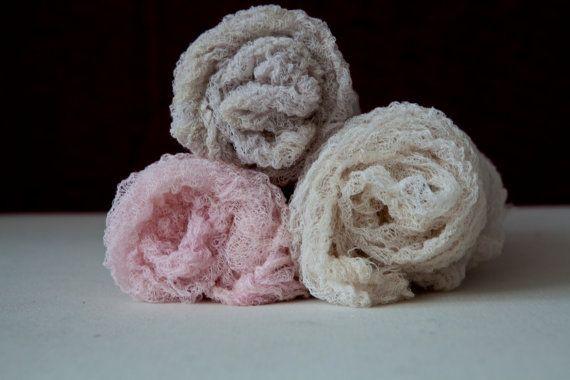 Stretchy open weave textured Newborn Wrap by greenearthstudio, $11.50