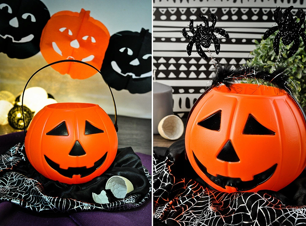 Koszyk na Słodycze Dynia Kosz i Lampion Halloween