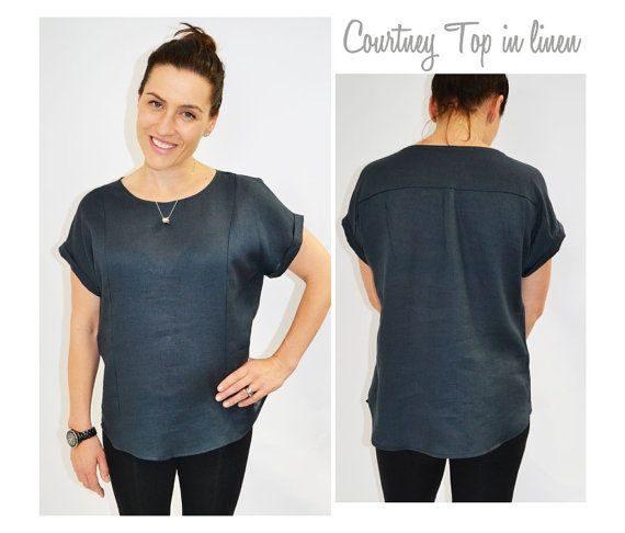 Courtney Top - Sizes 10, 12, 14 - Womens Top PDF Sewing Pattern by ...