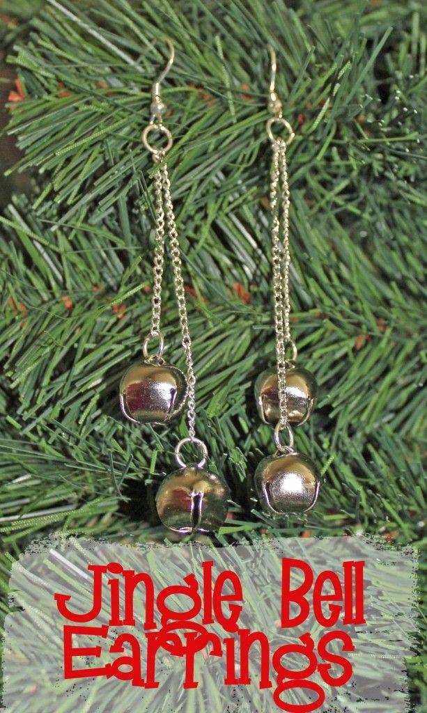easy fast jingle bell earrings Christmas earrings, Diy