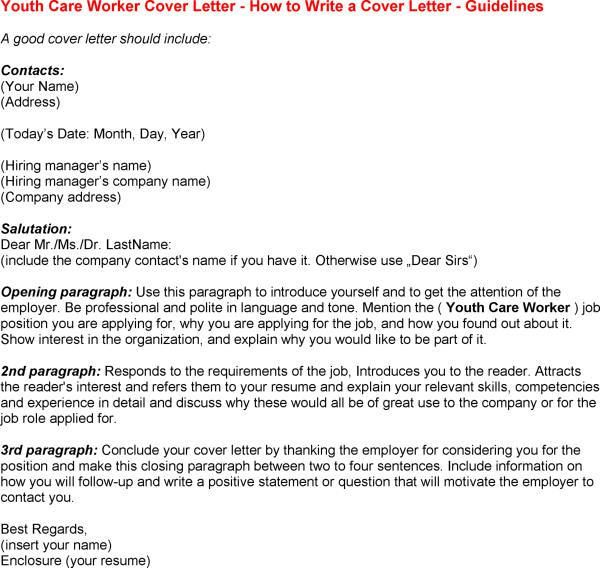 Cover Letter Template Youth Worker , #cover #coverlettertemplate ...