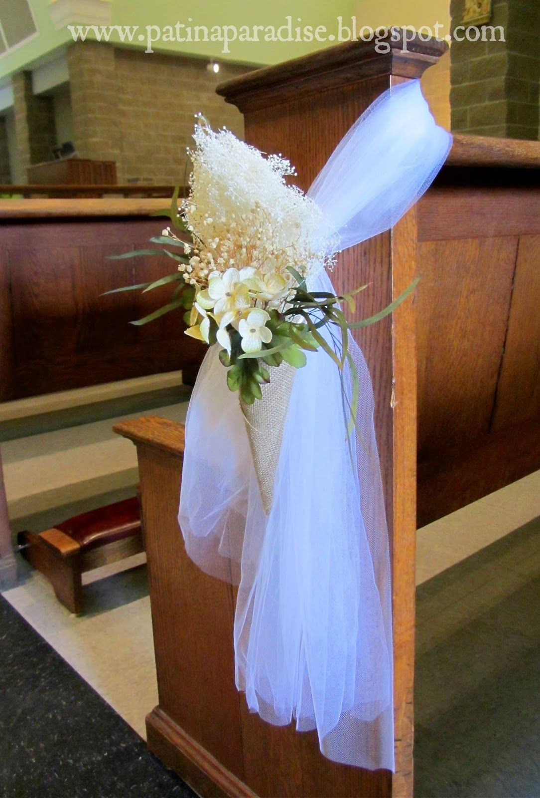 church+pew+wedding+decorations | ... pew at the entrance ...