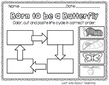 Worksheets Butterfly Life Cycle Worksheet caterpillar life cycle worksheet hatching butterflies with free printable