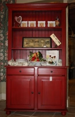 Red Hutch makeover