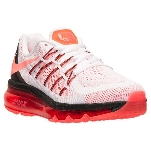 Boys  Grade School Nike Air Max 2015 Running Shoes - 705457 101 ... d3ea17e1b9