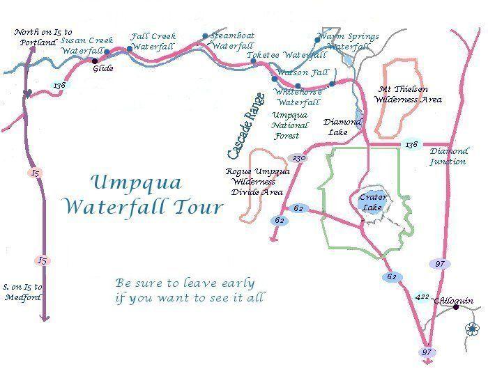 Susan Creek Campground Oregon Scenic River Oregon Maps Hiking - Waterfalls in oregon map