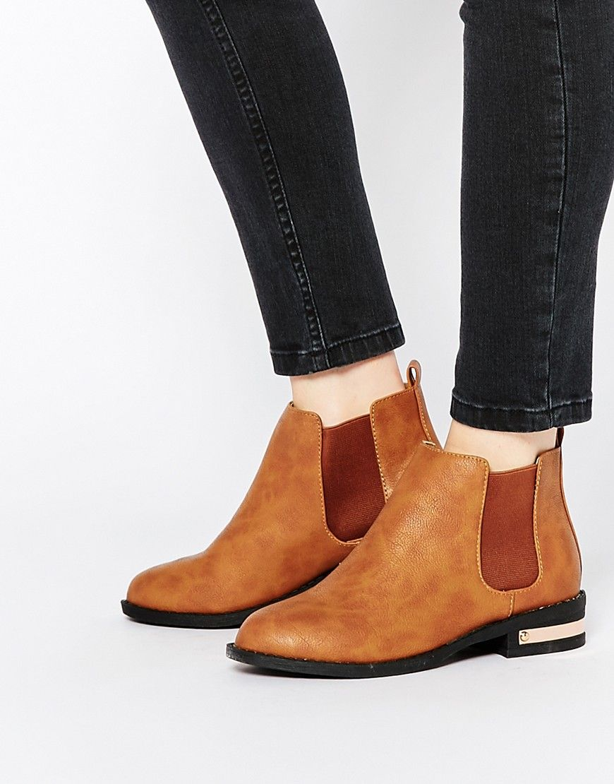 Buy Women Shoes / Daisy Street Tan Thirza Chelsea Boots