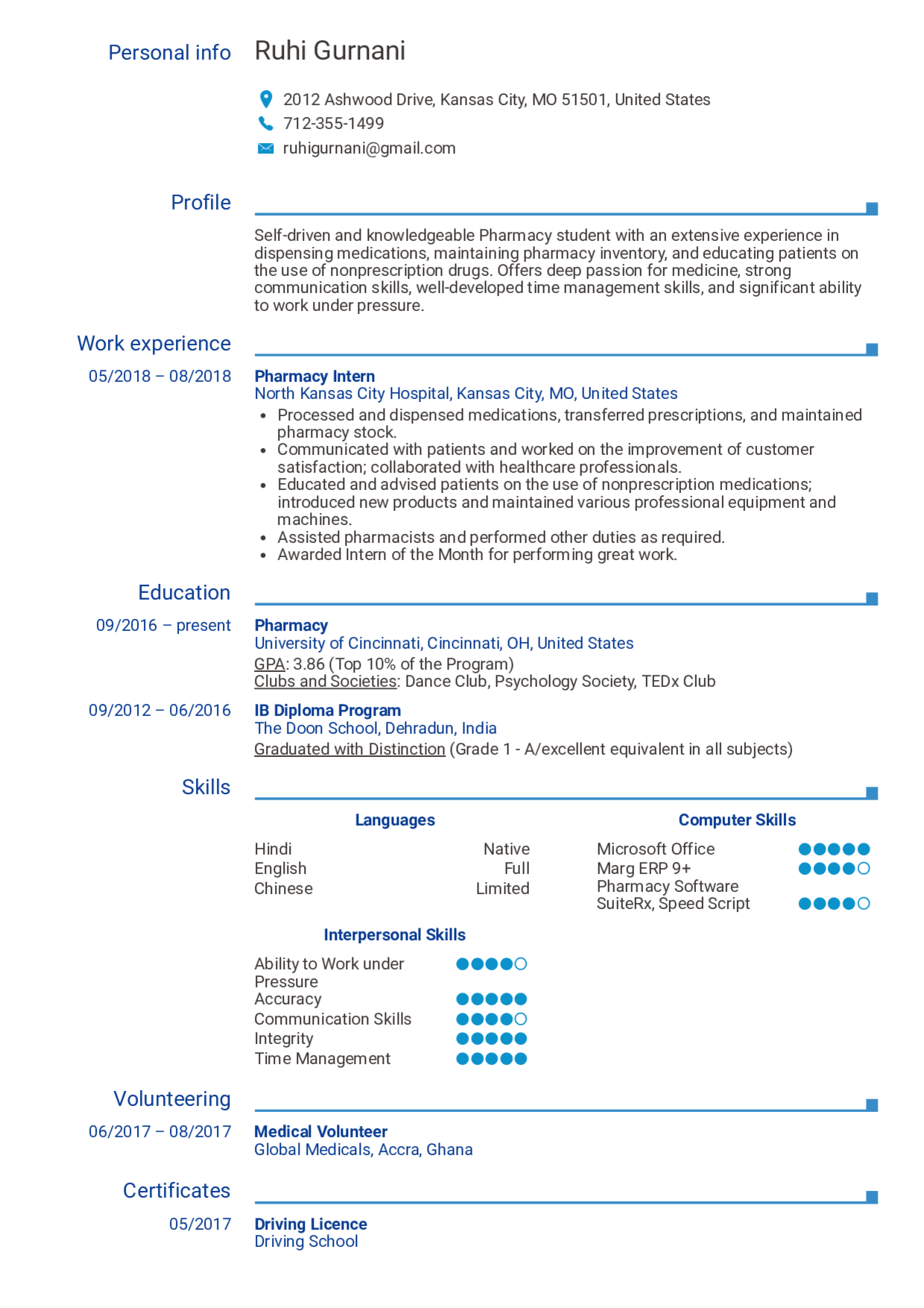 Pharmacy Student Resume Template You Should Experience Pharmacy Student Resume Template At L Resume Examples Student Resume Template Job Resume Examples