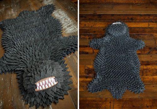 Geek Art Gallery: Crafts: Monster Skin Rug