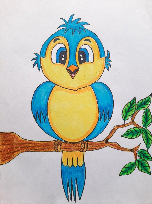 Cute Bird Drawing For Kids Cartoon Bird Drawing Cartoon Bird Drawing Bird Drawing For Kids Art Drawings For Kids