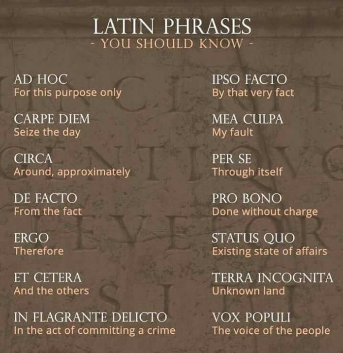 Always Handy Latin Phrases Latin Quotes Writing Words