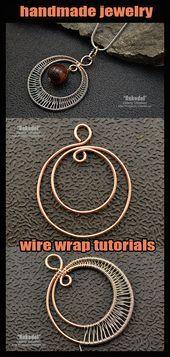 Photo of Handwerklich gefertigter Schmuck. Wire Wrap Tutorial. Anhänger. Dieses Bild hat 1 Wiederholungen …