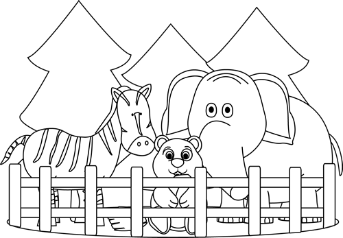 Black And White Zoo Clip Art Black And White Zoo Image Zoo Animal Coloring Pages Zoo Coloring Pages Animal Coloring Books
