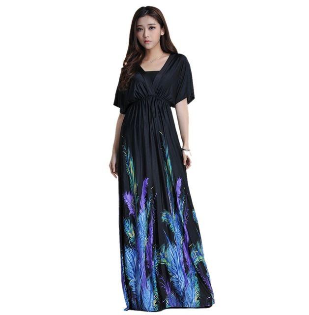 women summer boho dress vestidos largos robe femme beach dress