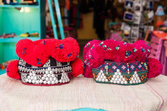 Mien Baby Girl Hat Baby Girl Hats Girl With Hat Colorful Tribal