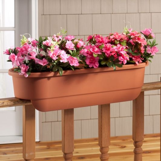 25 Beautiful Deck Railing Planters Ideas On Pinterest: Deck Railing Planter Large Rectangle-Home And Garden