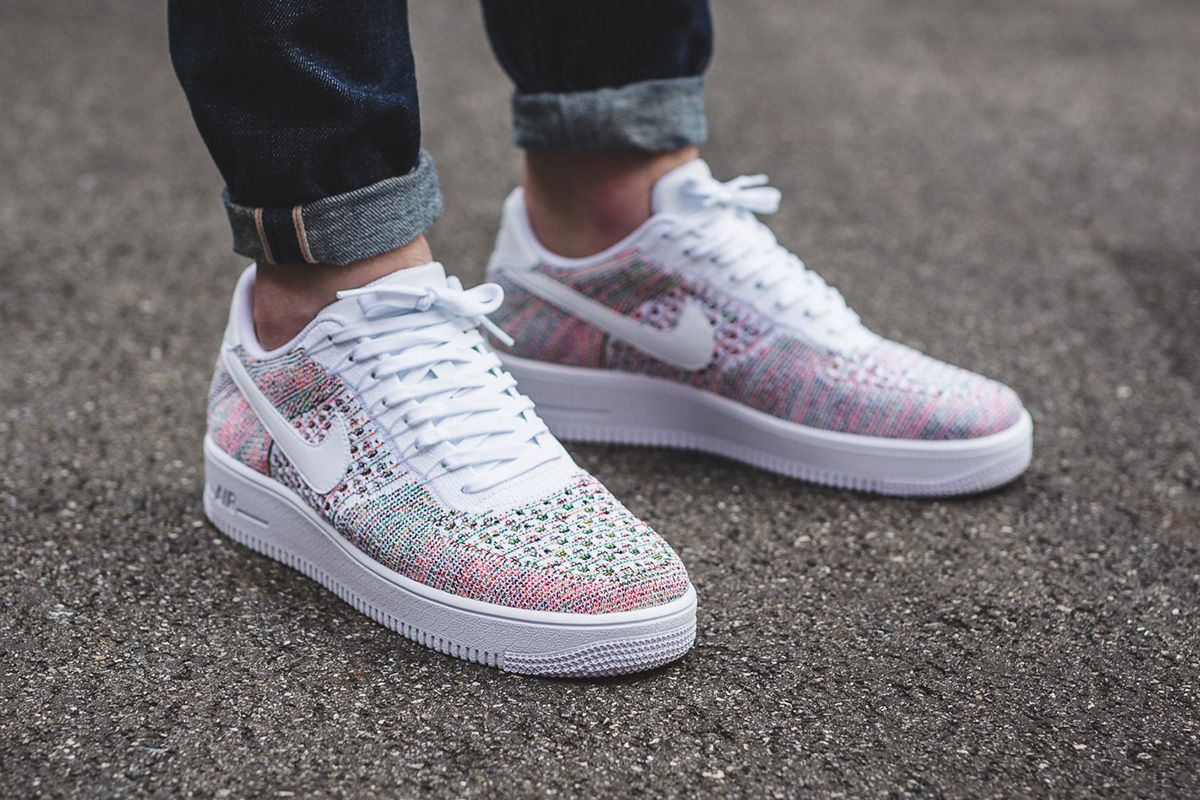 "best sneakers 783bb 7b1d1 On-Foot  Nike Air Force 1 Ultra Flyknit Low ""White   Multicolor"""