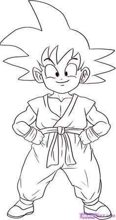 Resultado De Imagen De Plantilla Dibujo Dragon Ball Z Dibujo De Goku Goku Dibujo A Lapiz Dibujos Para Colorear Faciles