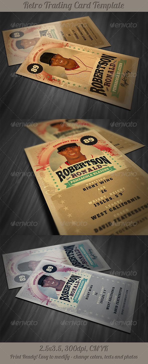 Retro Trading Card Template  HttpGraphicriverNetItemRetro
