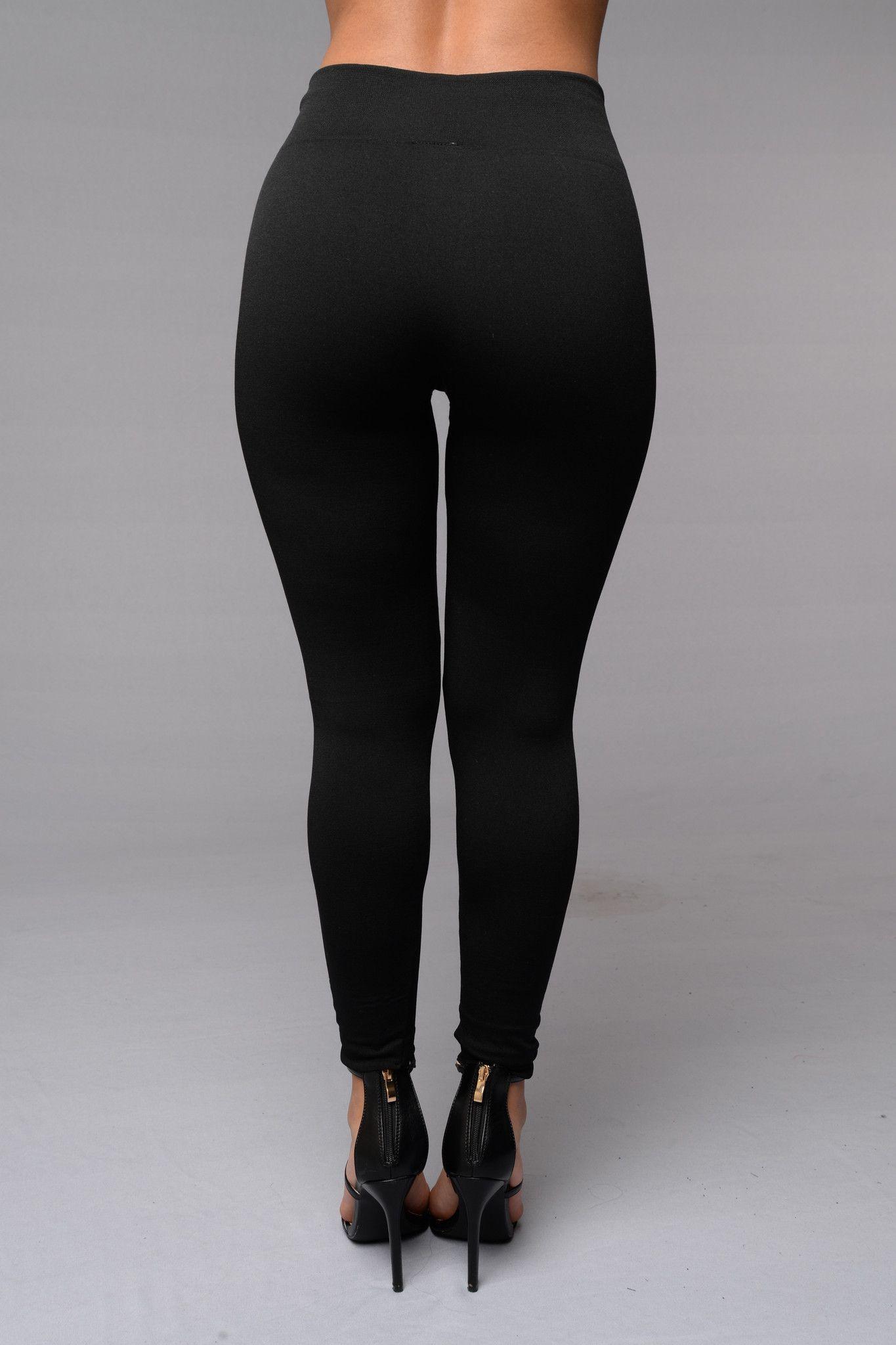 6badd8a567be6 Yes Fleece Leggings - Black   Fashion!!   Fleece leggings, Black ...
