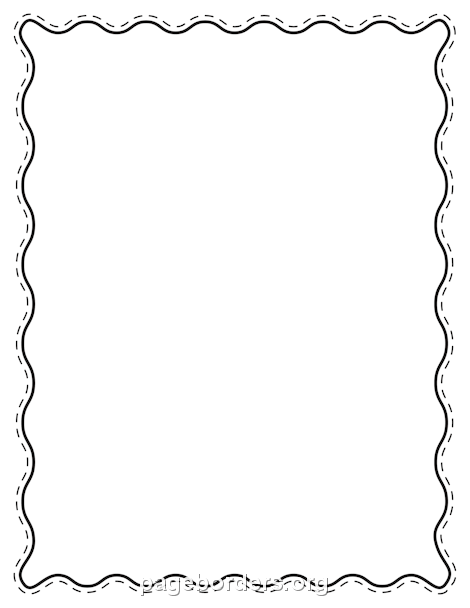Printable Black Wavy Border. Use The Border In Microsoft Word Or Other  Programs For Creating  Free Microsoft Word Border Templates