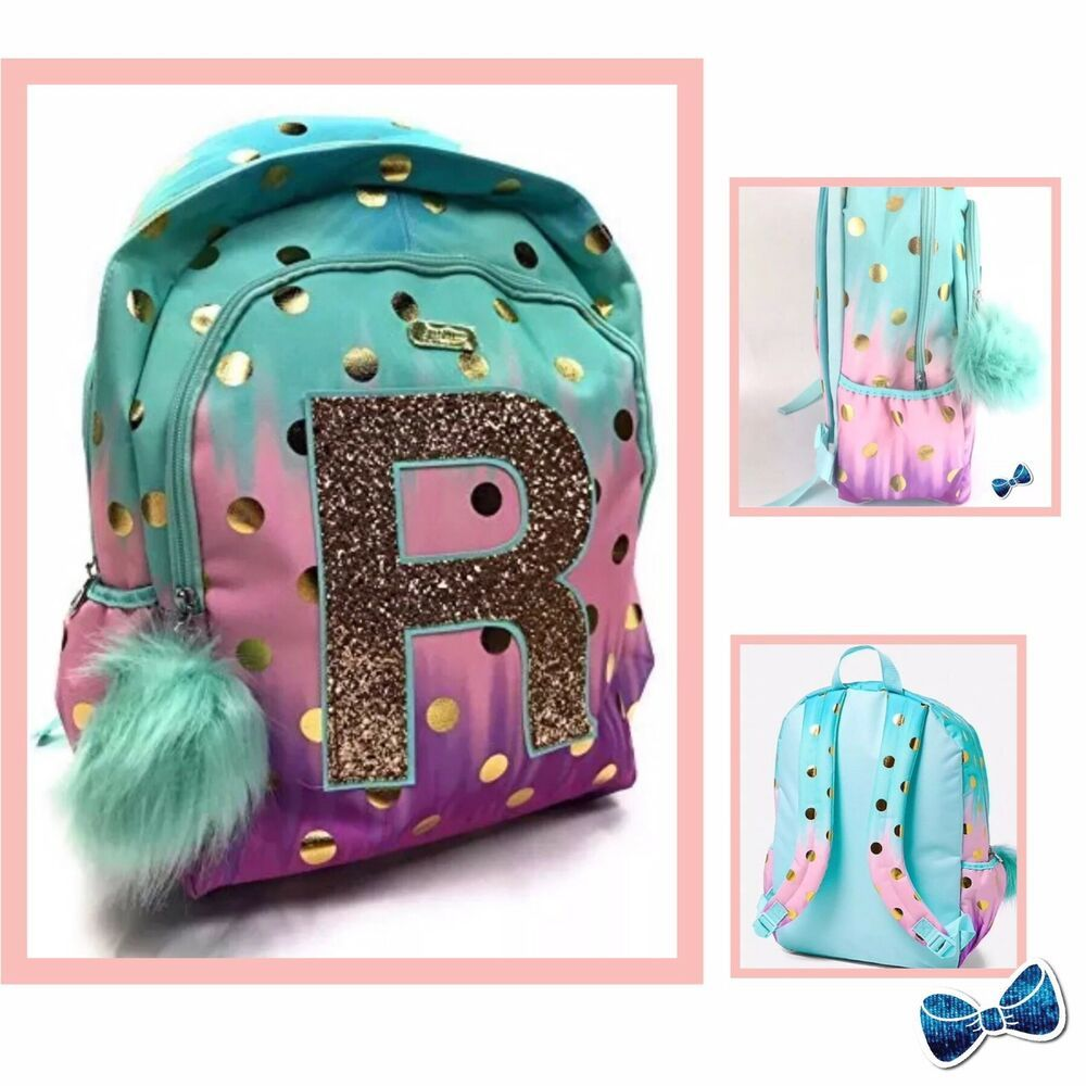 Justice Girls Initial R Ombre Foil Dot Initial Backpack Nwt Ebay Justice Backpacks Backpacks Kids Bags