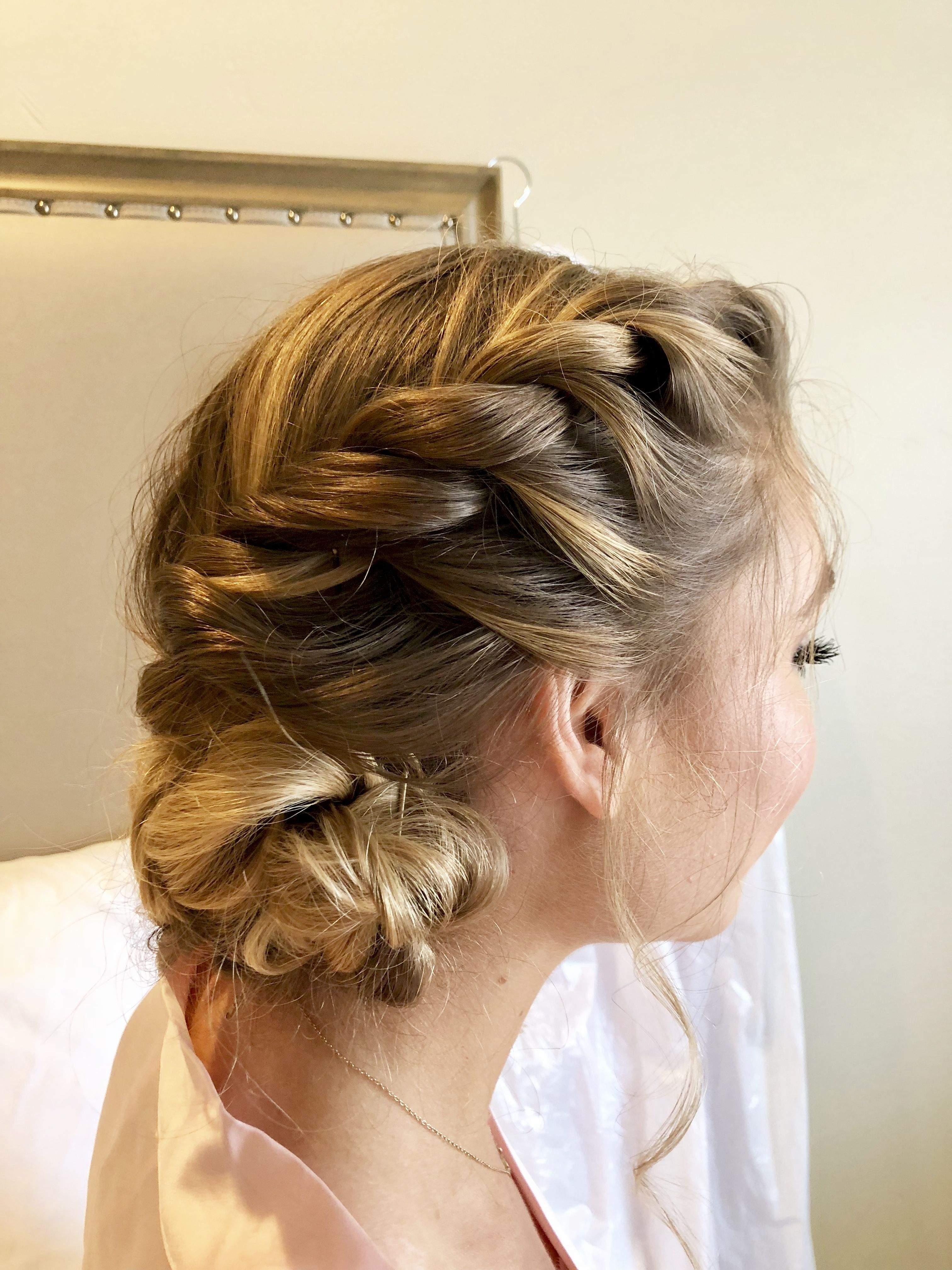 updo braided hairstyle for wedding | hair | braided