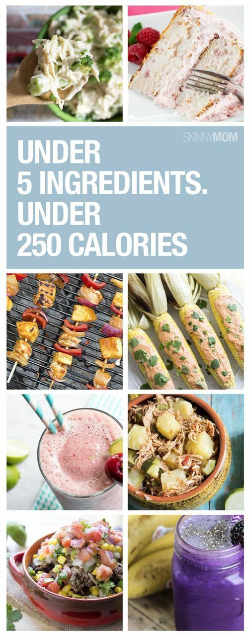 recipes under 5 ingredients and 250 calories dinners easy and food
