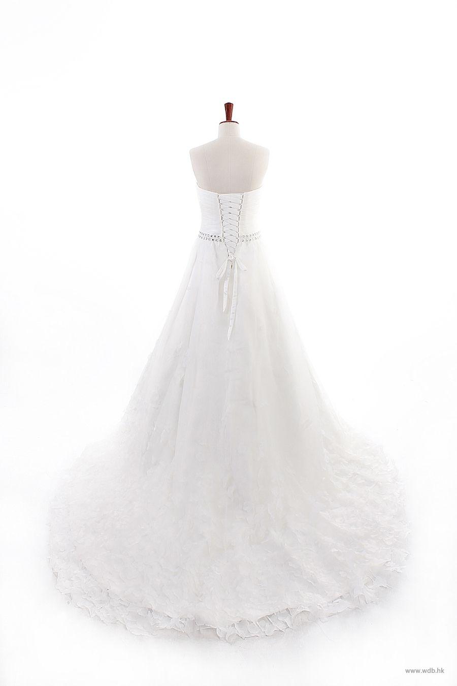 Strapless ball gown wedding dresses  garden wedding Strapless Ball Gown Net wedding dress